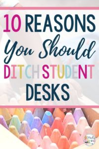 Getting tired of desks? I am too! Here are my top 10 reasons why you should ditch student desks. Click through to read them all!   get rid of desks   declutter   classroom organization   layout   teaching
