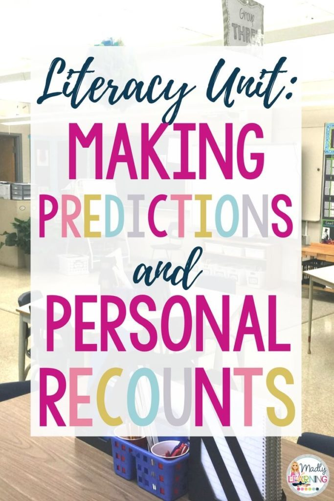 Click through to check out a literacy unit on making predictions and personal recounts! It integrates character traits lessons with reading comprehension. | literacy | teaching | elementary | students