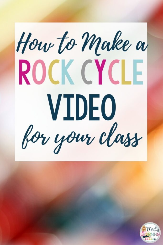 Get creative when teaching science. Check out this awesome video about making a rock cycle video, and learn how to make one yourself. science | elementary | teaching | students
