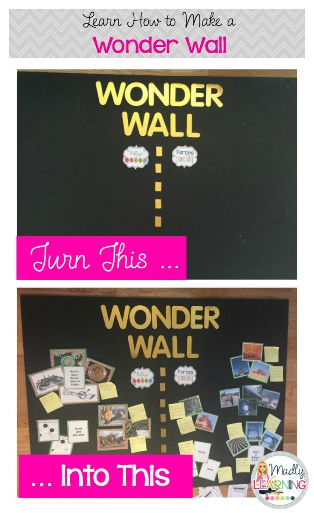 Talking Inquiry Making A Wonder Wall Madly Learning