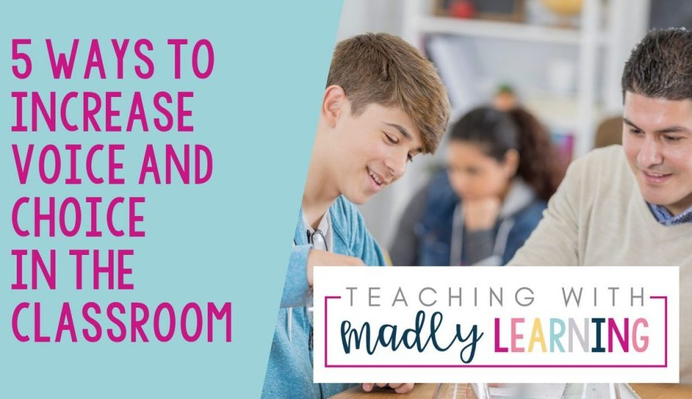 ep160 student choice and voice in the classroom